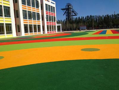 湖北荆门市掇刀石幼儿园EPDM塑胶地面